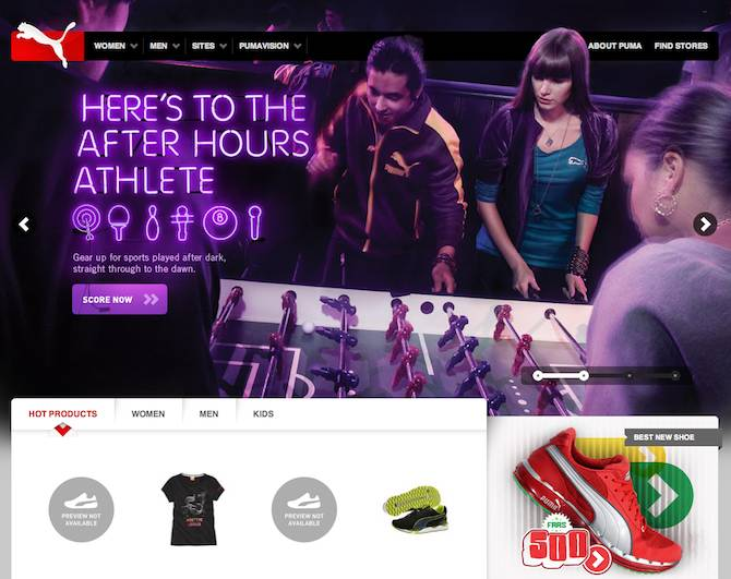 Puma Website