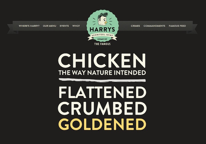 Harrys Schnitzel Joint Website Designer