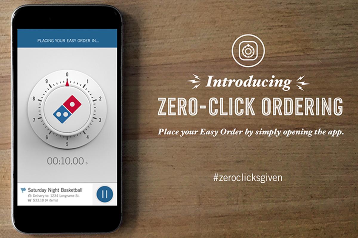 Zero Click Ordering